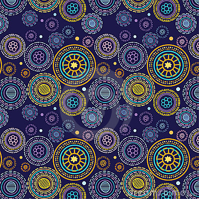 Free Circles And Lines Seamless Pattern Stock Image - 12772821