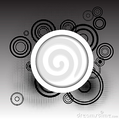 Circles background with place for your text