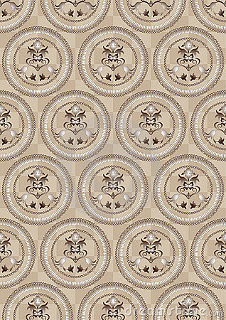 Circles on a beige background of the cells.Wallpap