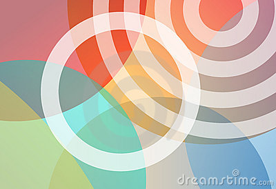 Circles bright colors gradient background