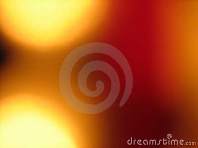 Circles of light with red