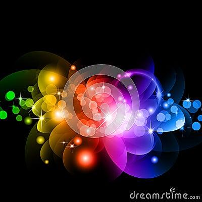 Circles of llight with Raibow Colours