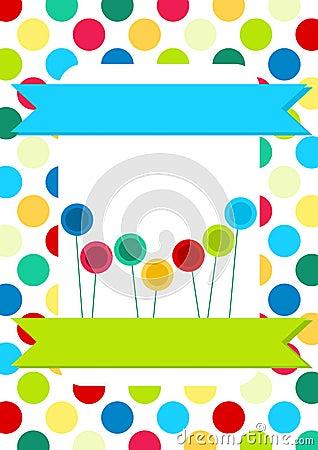 Circles and Lollipops Invitation Card