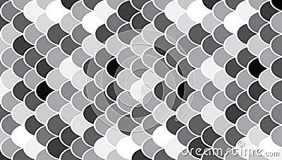 Circles modern art pattern