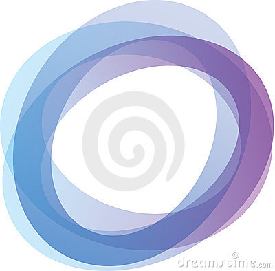 Circles in shades of blue and purple