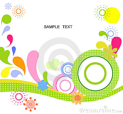 Circles and water background