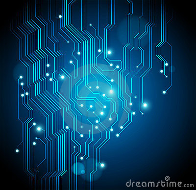 Circuit board background -  vector is available
