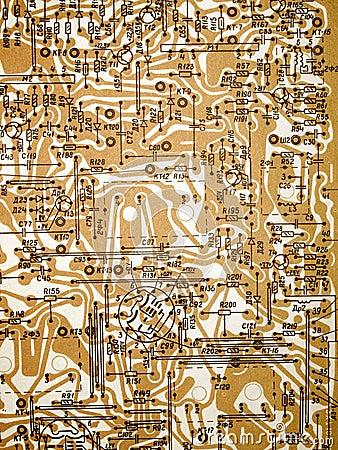 Circuit board diagram.