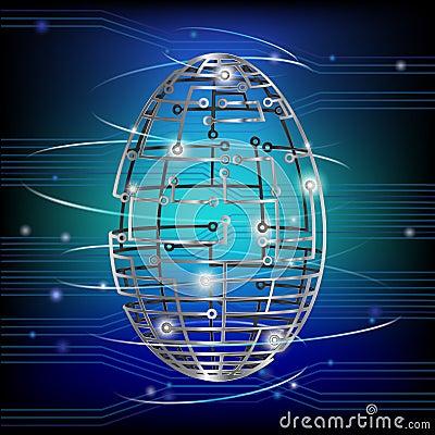 Free Circuit Board Egg Royalty Free Stock Image - 29775266