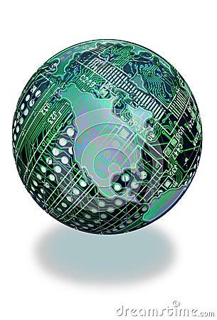 Circuit board globe