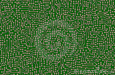 Circuit board green abstract texture