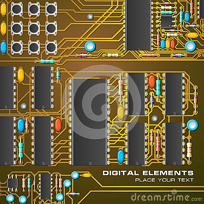 Circuit board with microchips