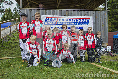 Circuit championship in bmx cycling, Aremark and Halden BMX team Editorial Image