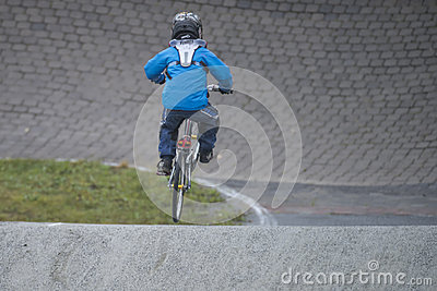 Circuit championship in bmx cycling2 Editorial Stock Photo