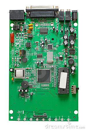 The circuit of an external dial-up modem