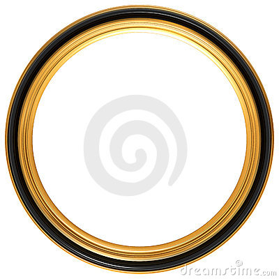 Free Circular Antique Picture Frame Stock Photography - 9113222