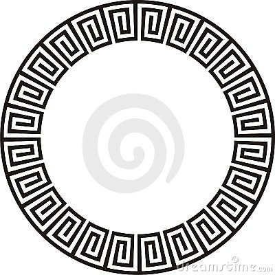Circular Aztec design