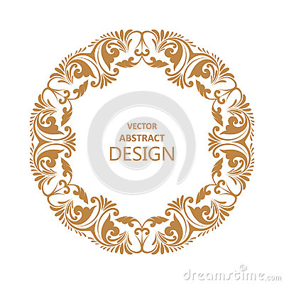 Circular baroque pattern Vector Illustration
