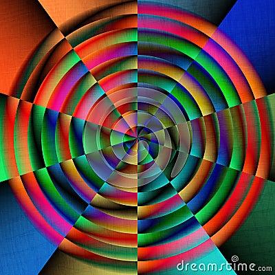 Circular bright colors