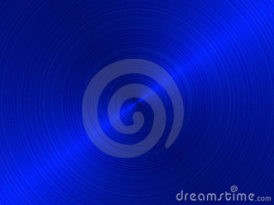Circular brushed metal -BLUE