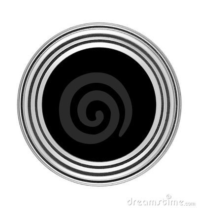 Circular button with metal frame