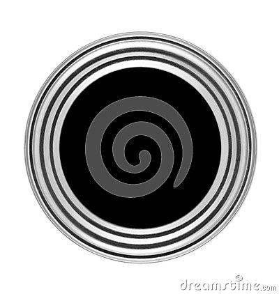 Circular button with metal frame
