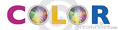 Circular colour or color swatch