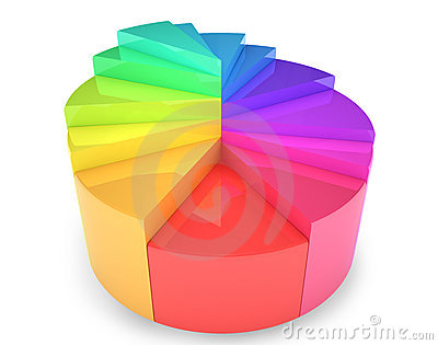 Circular diagram colorful illustration