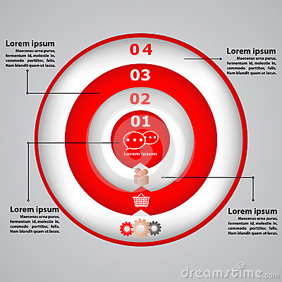 Circular diagram with icons for business concepts