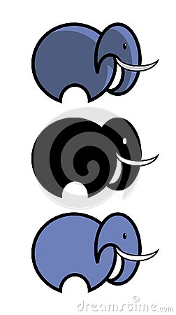 Simple Circular Elephant Illustrations : Dreamstime