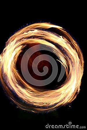 Circular fire dancing