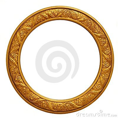 Free Circular Golden Picture Frame Royalty Free Stock Image - 2280286