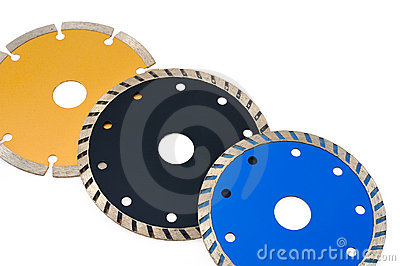 Circular grinder blades for tiles isolated on whit