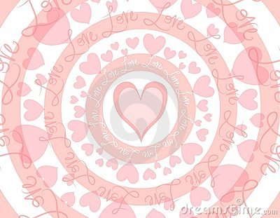 Circular Love Valentine s Day Background