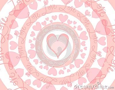 Circular Love Valentine s Day Background