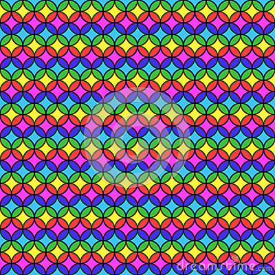 Circular Multicolored Stripes