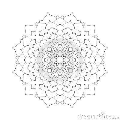 Free Circular Pattern Mandala Lotus Flower Black And White - Floral Background Royalty Free Stock Photos - 66667978