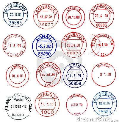 Circular postage stamps