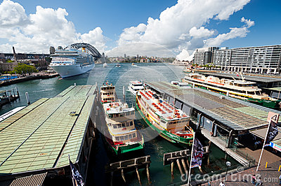 Circular Quay - Sydney Harbour, Australia Editorial Photo