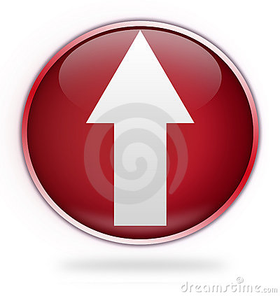 Circular red upload button