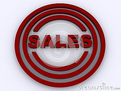 Circular sales stamp