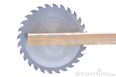 Circular Saw Blade in Board