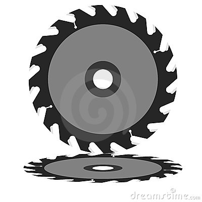 Free Circular Saw Blade On A White Background. Stock Photo - 24243160