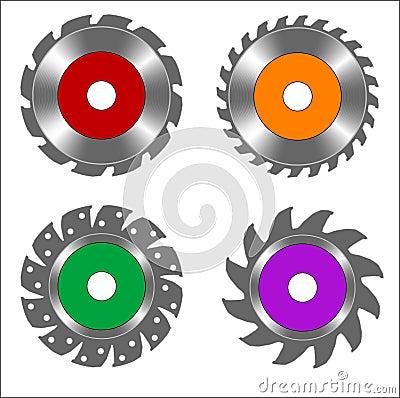 Free Circular Saw Blades Royalty Free Stock Images - 7612279