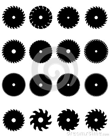 Circular saw blades Stock Photo