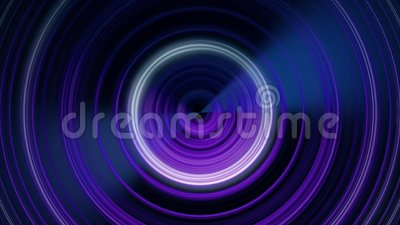 Circular sound waves  Abstract animation of circular lines pulsating from  center  Looped animation of monochromatic