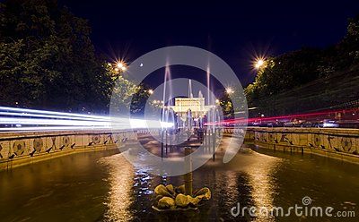 Circulation de nuit de Bucarest