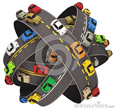 Circulation routière de voiture