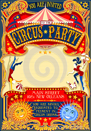 Free Circus 01 Invitation Vintage 2D Stock Photos - 60052023