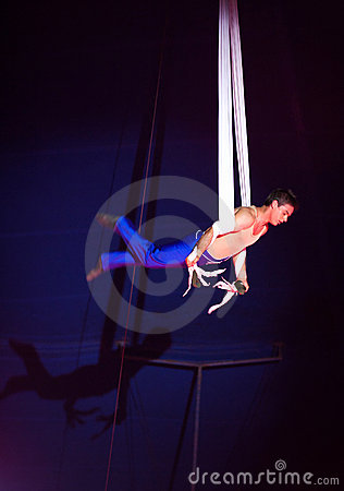 Circus acrobat Editorial Stock Image